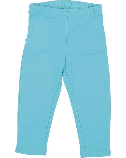 Wrangler Infant Girls' Turquoise Ruffle Leggings , Turquoise, hi-res