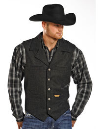Powder River Outfitters by Panhandle Men's Wool Vest, , hi-res