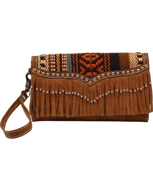 Blazin Roxx Women's Fringe Wallet, Brown, hi-res
