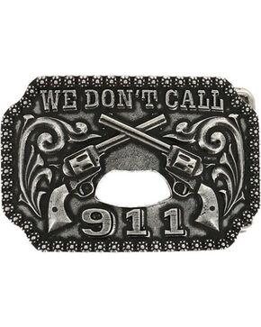 Cody James® Men's Double Pistol Bottle Opener Belt Buckle, Silver, hi-res