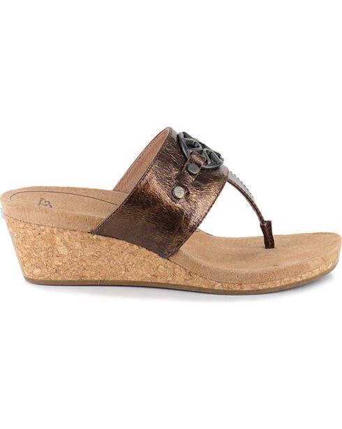 UGG Women's Brown Briella Sandals , Brown, hi-res