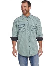 Cowboy Up Men's Vintage Wash Plaid Long Sleeve Western Shirt, , hi-res