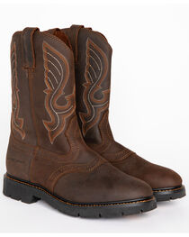 Cody James Men's Western Pull On Work Boots - Round Toe, , hi-res