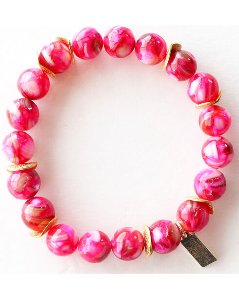 Everlasting Joy Jewelry Women's Flush Rose Gold Chip Bracelet , Blue, hi-res