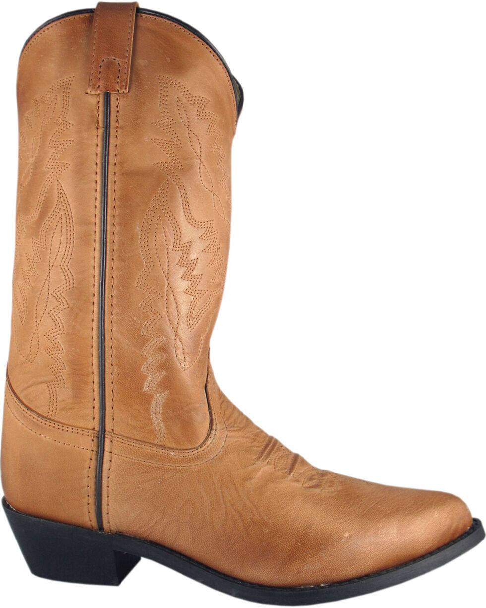 Smoky Mountain Bomber Cowgirl Boots - Round Toe, Tan, hi-res