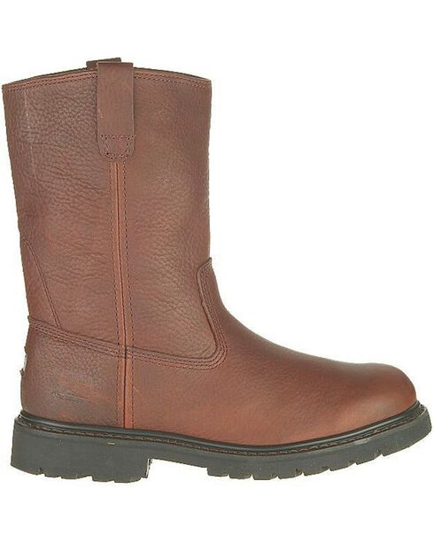 CAT Men's Colt Steel Toe Work Boots, Earth, hi-res