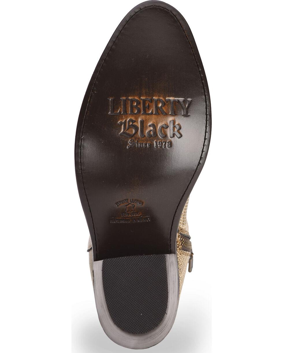 Liberty Black Women's Breton Snake Print Booties - Round Toe, Beige/khaki, hi-res