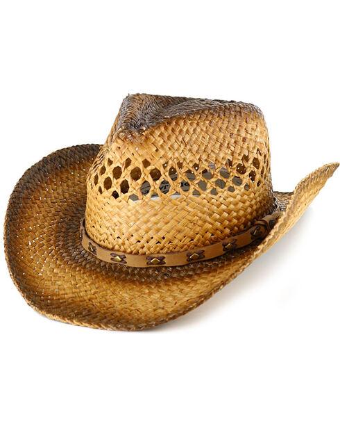 Cody James® Men's Studded Straw Hat, Natural, hi-res