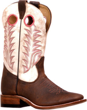 Boulet Women's Challenger Rough Rider Sonora Cowgirl Boots - Square Toe, Brown, hi-res