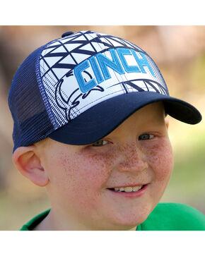 Cinch Boy's Navy Blue Logo Sublimation Graphic Cap, Navy, hi-res