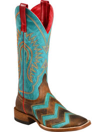 Macie Bean Wave on Wave Cowgirl Boots - Square Toe, , hi-res