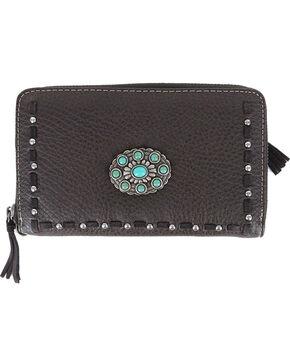 Shyanne® Women's Floral Concho Wallet, Taupe, hi-res