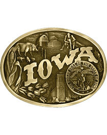 Montana Silversmiths Iowa State Heritage Buckle, , hi-res