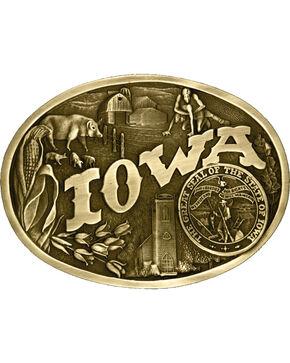 Montana Silversmiths Iowa State Heritage Buckle, Gold, hi-res