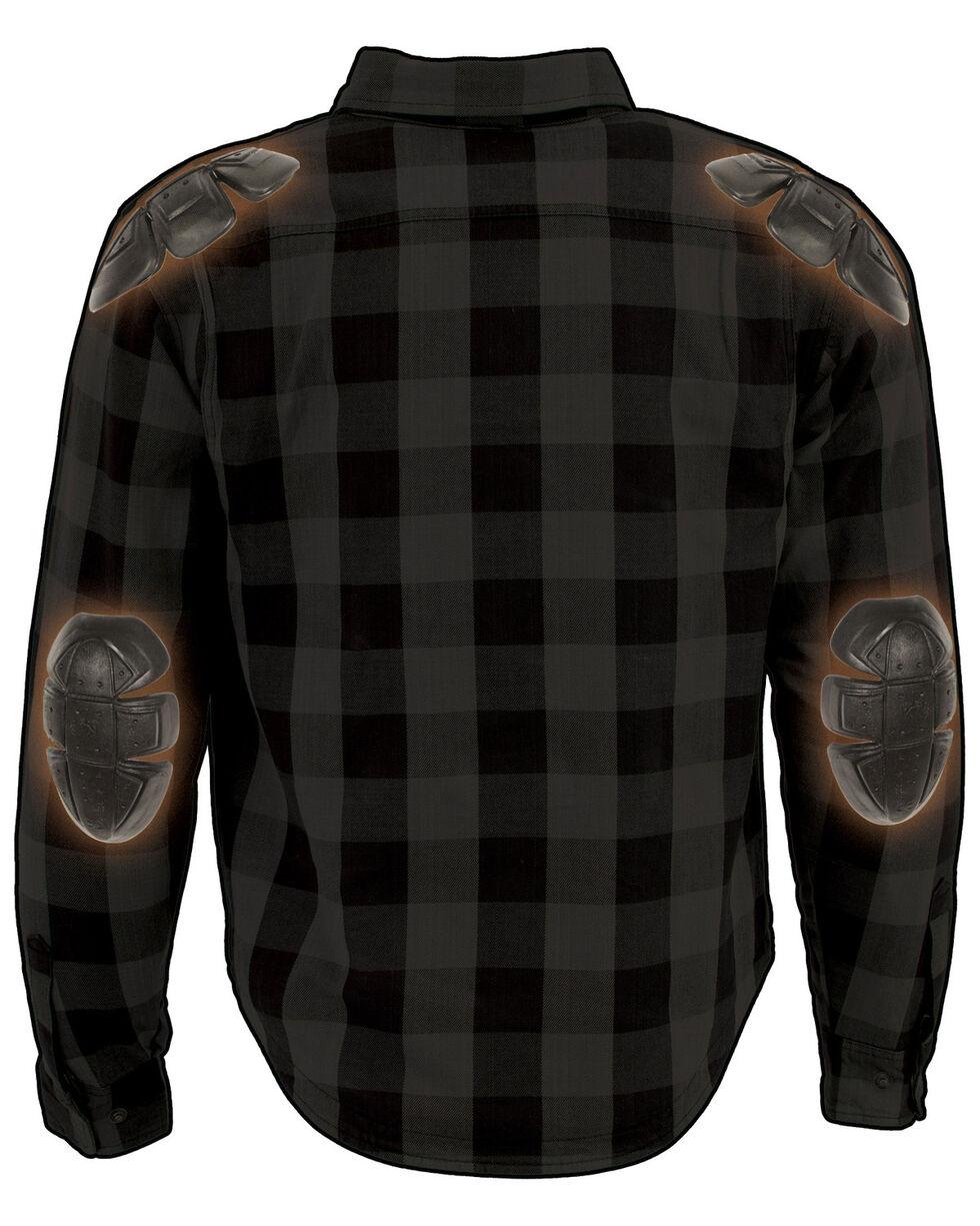 Milwaukee Performance Men's Aramid Checkered Plaid Biker Shirt, Dark Grey, hi-res