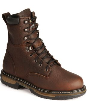 Rocky Men's IronClad Steel Toe Waterproof Work Boots, Bridle Brn, hi-res