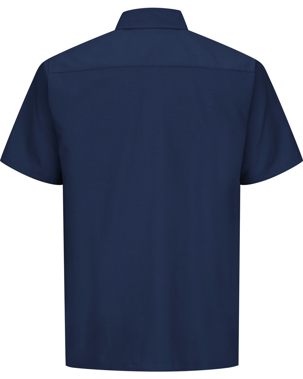 Red Kap Men's Navy Rip Stop Short Sleeve Work Shirt - Big & Tall , Navy, hi-res