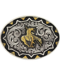 Montana Silversmiths Two-Tone Southwest Classic Impressions End of the Trail Attitude Belt Buckle, , hi-res