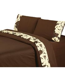 HiEnd Accents Printed Cowhide 4-Piece Queen Sheet Set, , hi-res