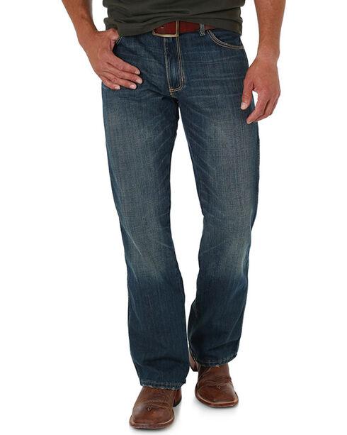 Wrangler Men's Blue Banjo Retro Jeans - Boot Cut, Blue, hi-res