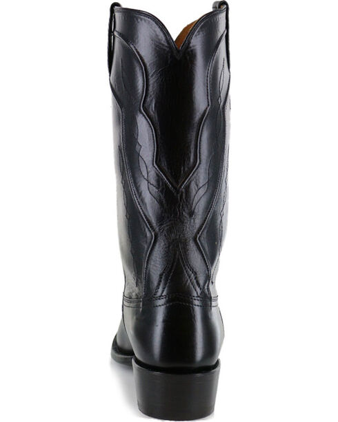 Lucchese Men's Kangaroo Exotic Boots, Black, hi-res