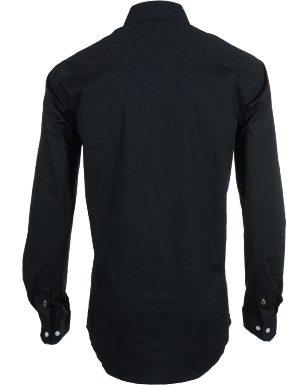 Cinch Men's Black Modern Fit Long Sleeve Western Shirt , Black, hi-res