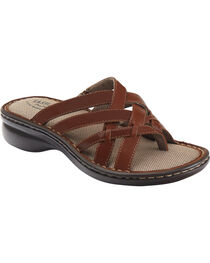 Eastland Women's Cinnamon Lila Thong Sandals , , hi-res