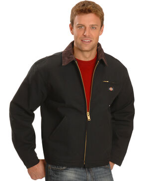 Dickies Blanket Lined Duck Jacket - Big & Tall, Black, hi-res