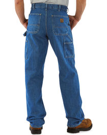 Carhartt Men's Signature Denim Work Dungarees, , hi-res