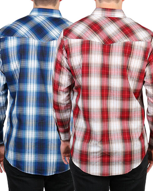 Ely Cattleman Men's Assorted Plaid Long Sleeve Shirt, Multi, hi-res