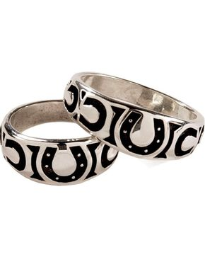 Silver Legends Horseshoe Western Wedding Ring, Silver, hi-res