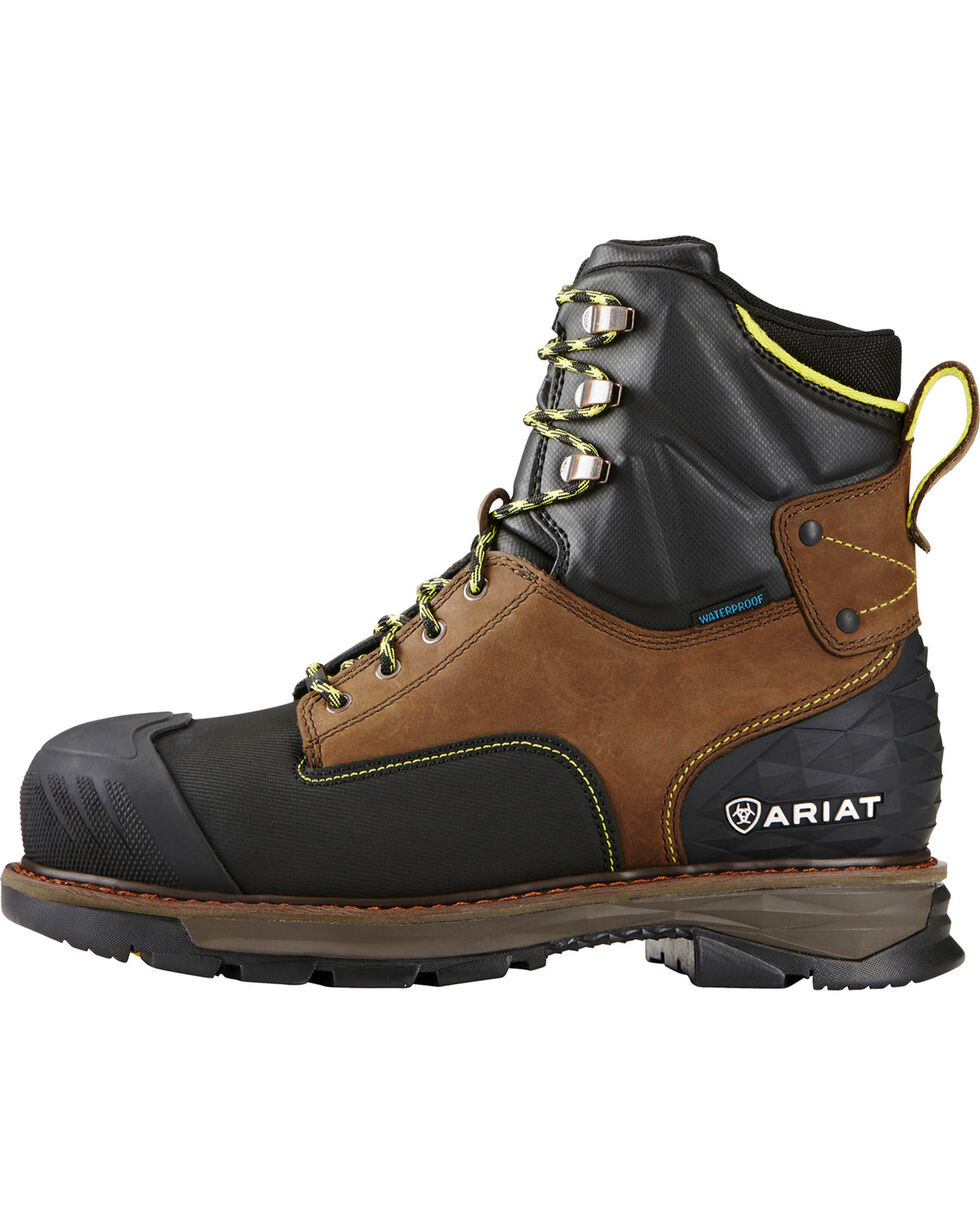 Ariat Men's Oily Catalyst H2O Comp Toe Work Boots, Brown, hi-res