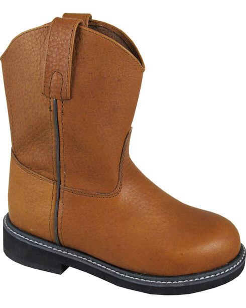 Smoky Mountain Boys' Jackson Wellington Western Boots - Round Toe, Brown, hi-res