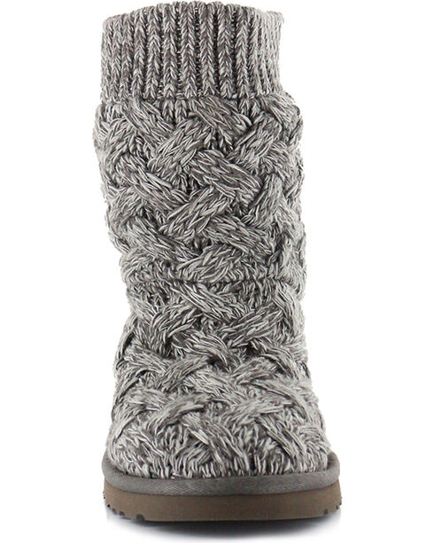 UGG® Women's Isla Knit Casual Boots, Heather Grey, hi-res