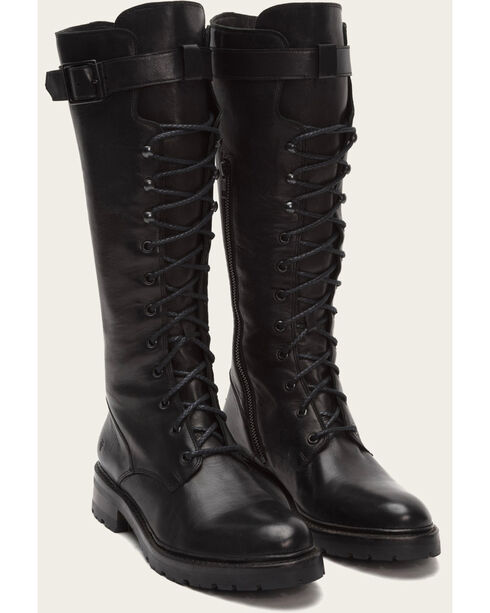 Frye Women's Julie Lace Tall Boots - Round Toe , Black, hi-res