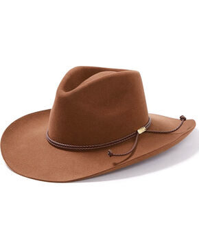 Stetson Men's Acorn 4X Carson Cowboy Hat , Lt Brown, hi-res