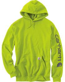 Carhartt Men's Green Midweight Hooded Logo Sweatshirt , , hi-res