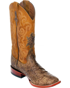 Ferrini Men's Tan Elephant Print Western Boots - Square Toe , Tan, hi-res