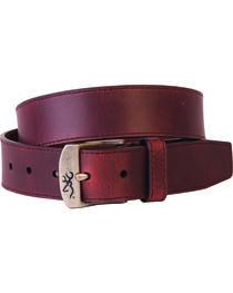 Browning Men's Basic Brown Buckmark Buckle Belt, , hi-res