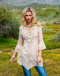 Scully Women's Lace & Ruffle Blouse, , hi-res