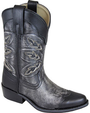 Smoky Mountain Youth Boys' Preston Western Boots - Snip Toe, Black, hi-res