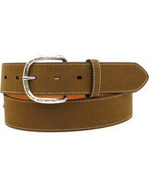Nocona Men's Top Hand Scalloped Overlay Belt , , hi-res