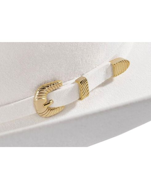 Larry Mahan White Reno 6X Fur Felt Cowboy Hat, White, hi-res
