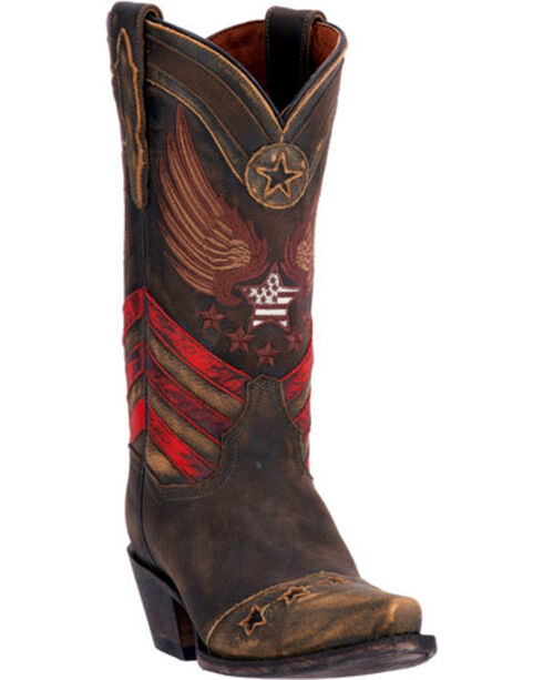 Dan Post Women's N'Dependence Western Boots, Brown, hi-res