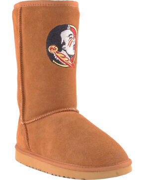 Gameday Boots Women's Florida State University Lambskin Boots, Tan, hi-res