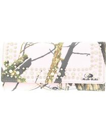 M&F Women's Camouflage and Rhinestone Tri-Fold Wallet, , hi-res
