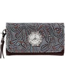 Blazin' Roxx Floral Rhinestone Wallet, , hi-res