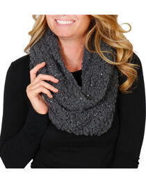 Shyanne® Women's Sequin Infinity Scarf, , hi-res
