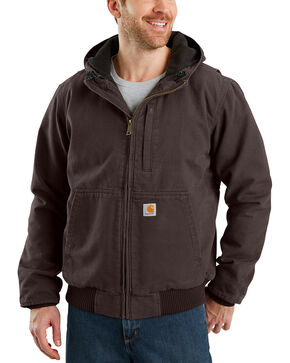 Carhartt Men's Full Swing Armstrong Active Jacket - Big & Tall , Dark Brown, hi-res