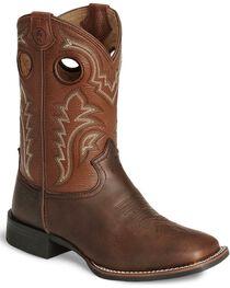 Tony Lama Boys' Tiny Lama 3R Tan Cowboy Boots - Square Toe, , hi-res